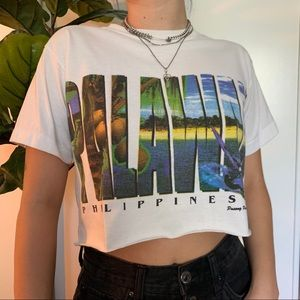 Vintage cropped Philippines t shirt